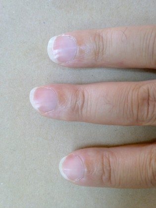 The guitarist's nails